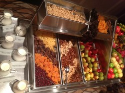 Cross-contamination on buffet items happens with utensils as well as placements.