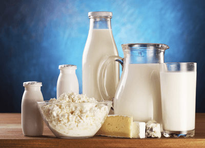Milk and milk products are one of eight foods that cause 90% of all allergic reactions.