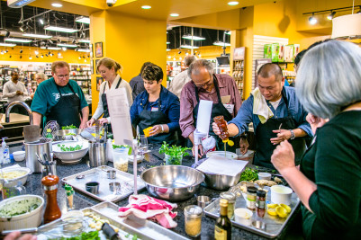 The Cooks Warehouse hands on teambuilding cooking class allows attendees to interact outside the meeting room. 2016 Top food and beverage Trends