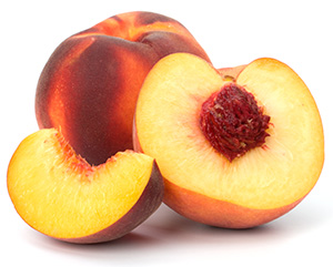 peaches are low in calories