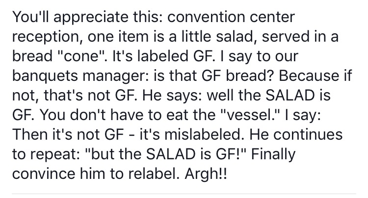 The Salad is Gluten-Free