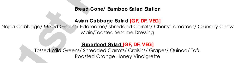 Salad Saga: BEO listing