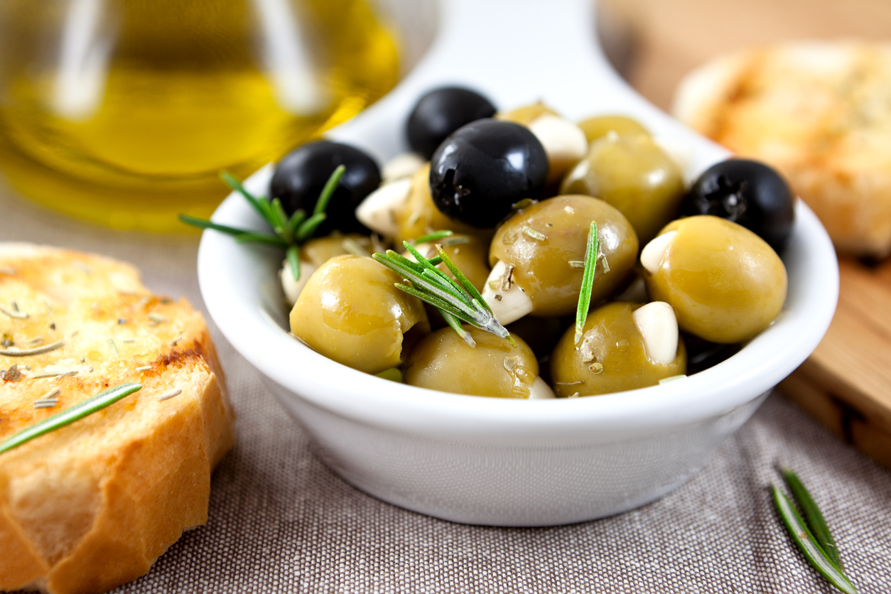 Olives fruits and veggies month