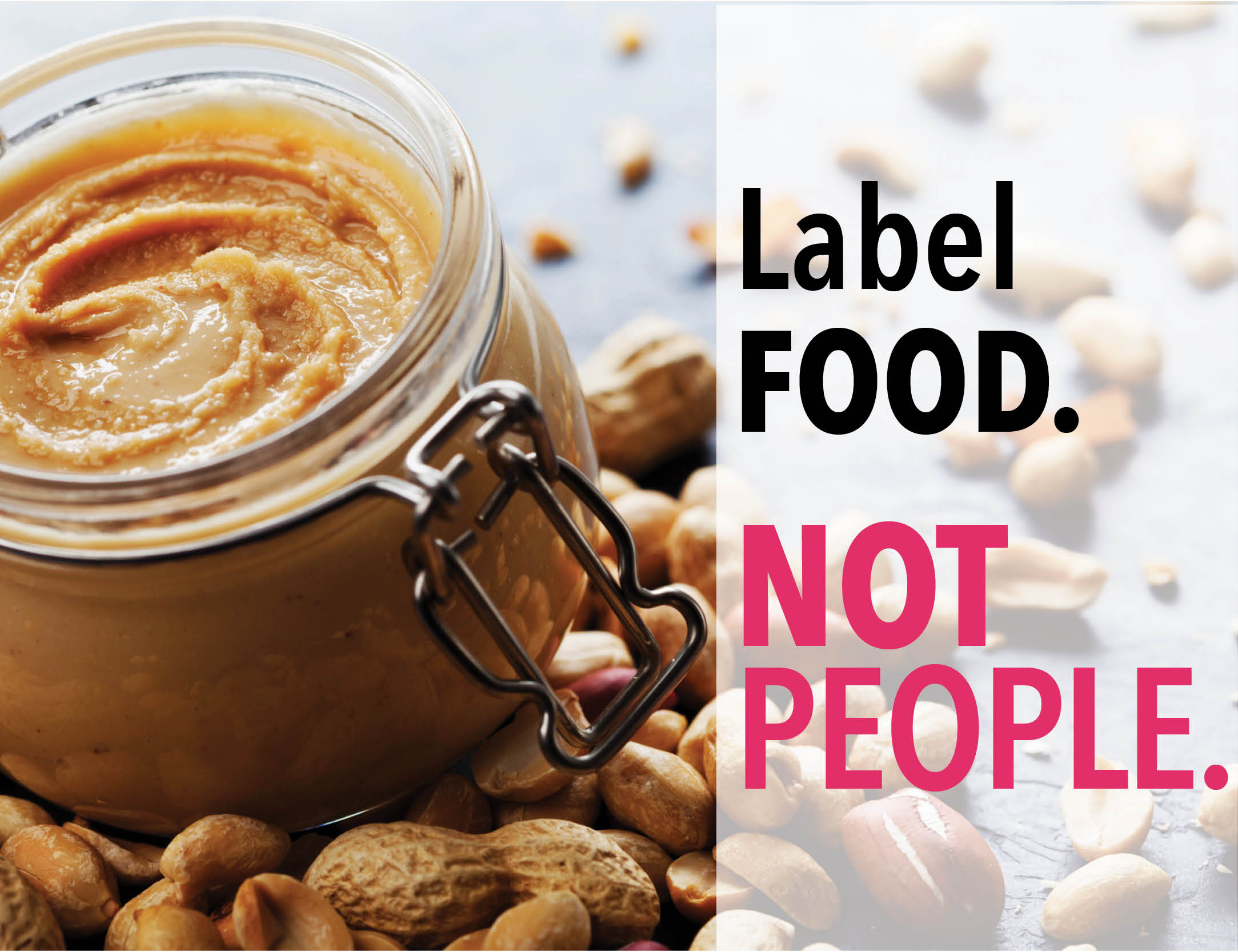 label food, not people
