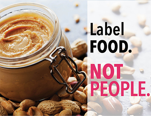 Thrive label food not people