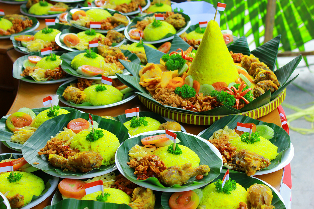 Tumpeng-rice Independence Day