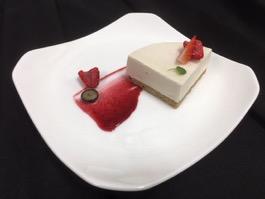 Plated Vanilla Cheezecake