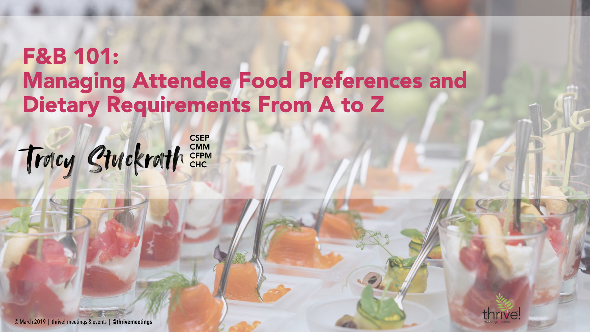F&B 101: Managing Attendee Food Preferences and Dietary Requirements from A to Z