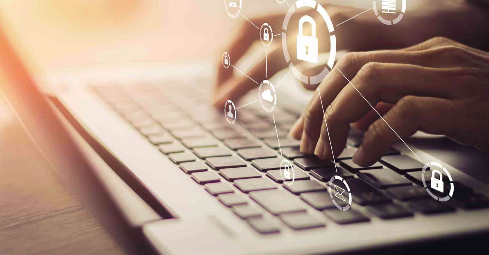 hands on keyboard, Business technology internet networking, GDPR