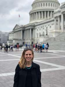 Erin Malawer on Capitol Hill dispensing the facts about food allerigens