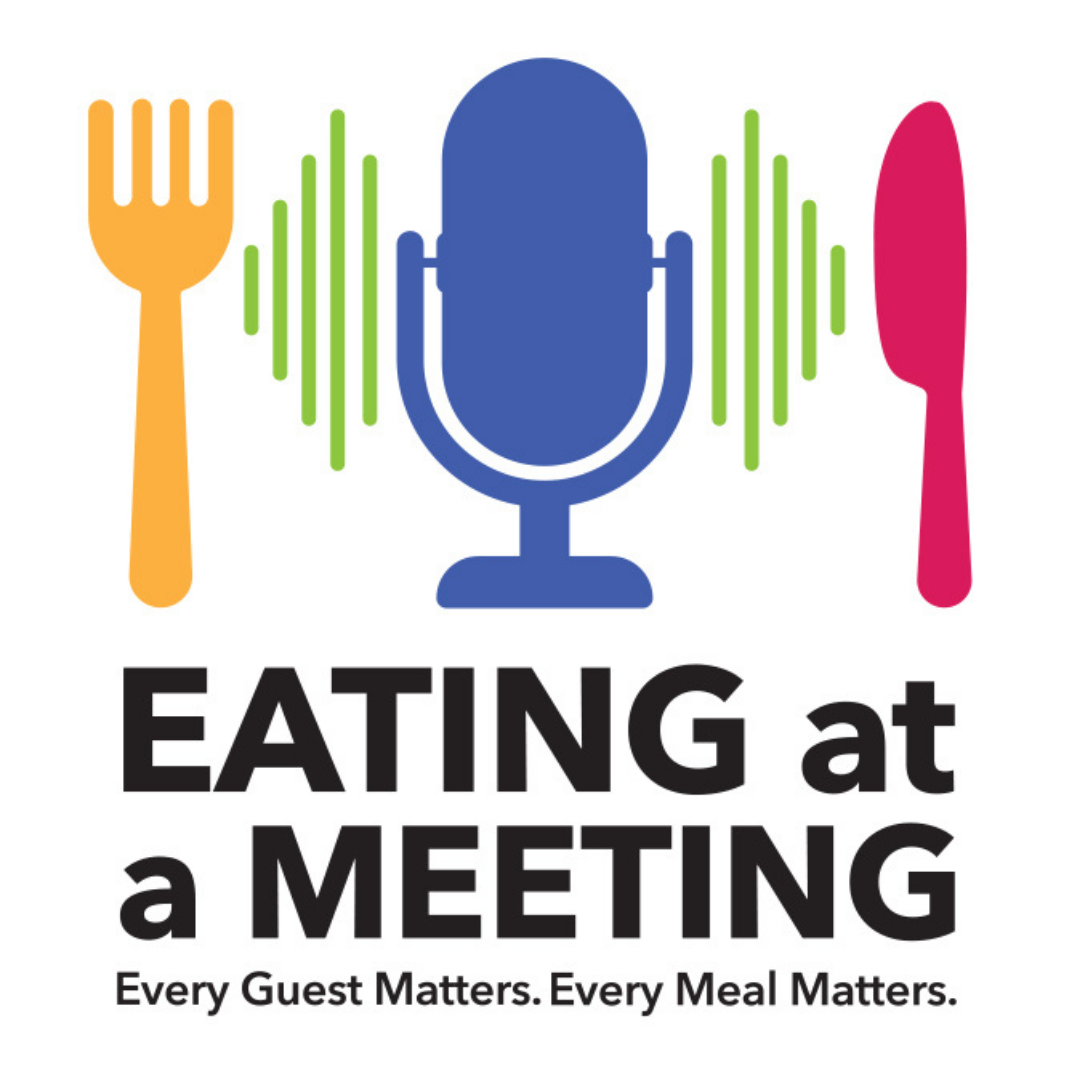 Eating at a Meeting logo links to the listing of podcast episodes