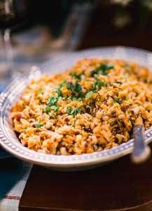 bowl of Carolina Gold rice